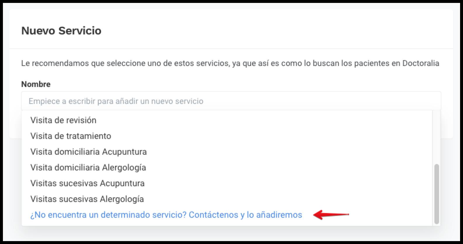 ES Nombre new service